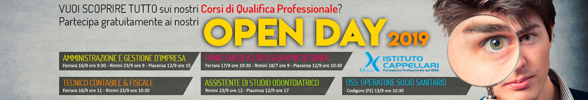 open day cappellari 2021